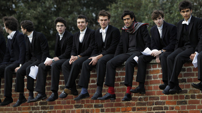 THE BOYS FROM ETON - THE ESTABLISHMENT'S NEW LITTLE LACKEYS. JUSTIFY MIRDER BOYS!
