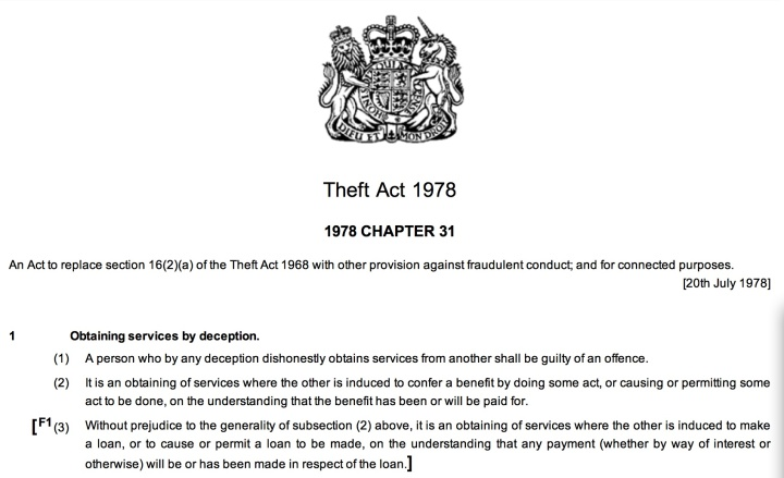 Theft Act 1978