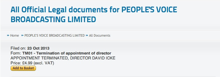 Icke terminated