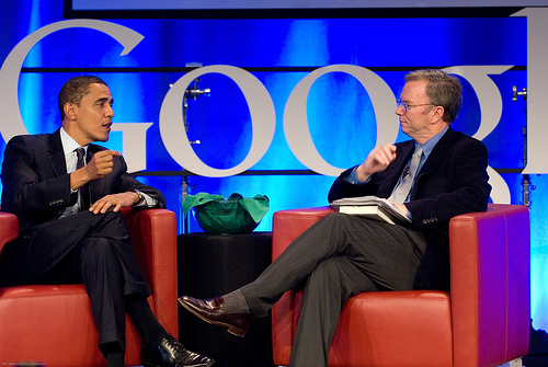 Barck Obama and Eric Schmidt