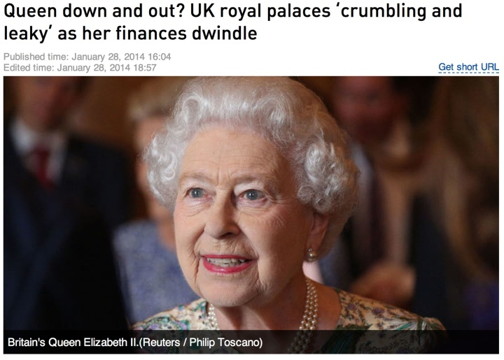 Queen down and out