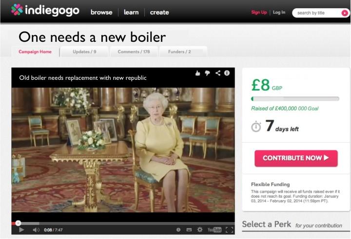 Queen's boiler indiegogo