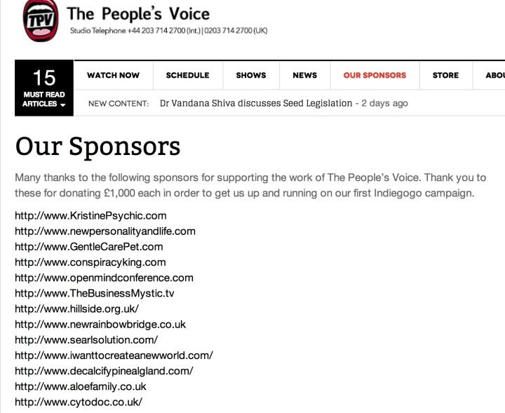TPV £1K sponsors