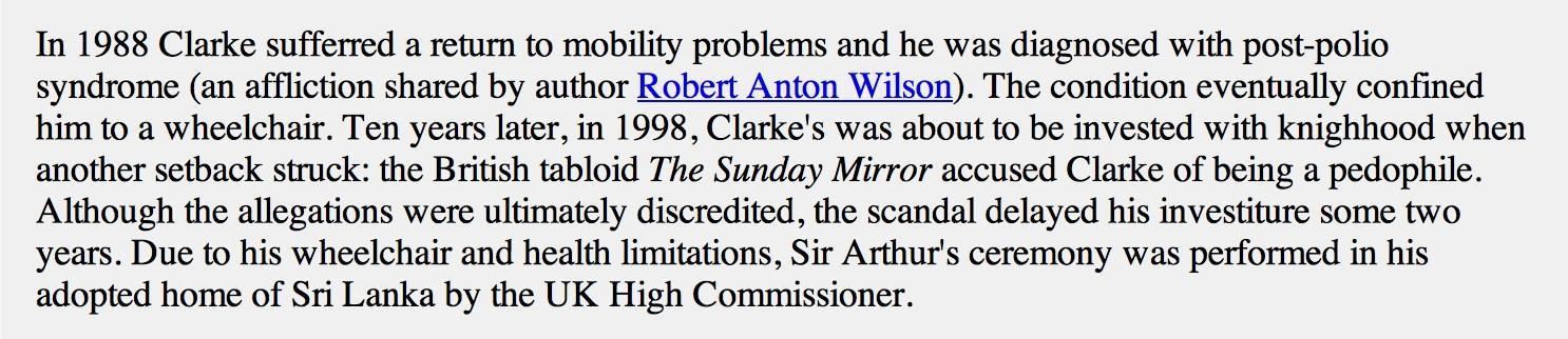 Arthur C Clarke 1