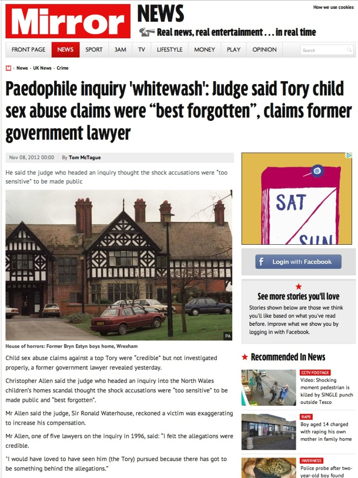 Mirror paedo judge