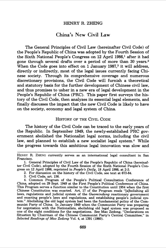 China's new civil law