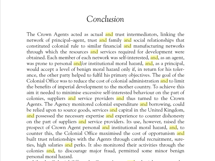 Crown moral hazard