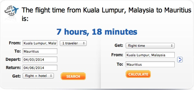 KL to Mauritius