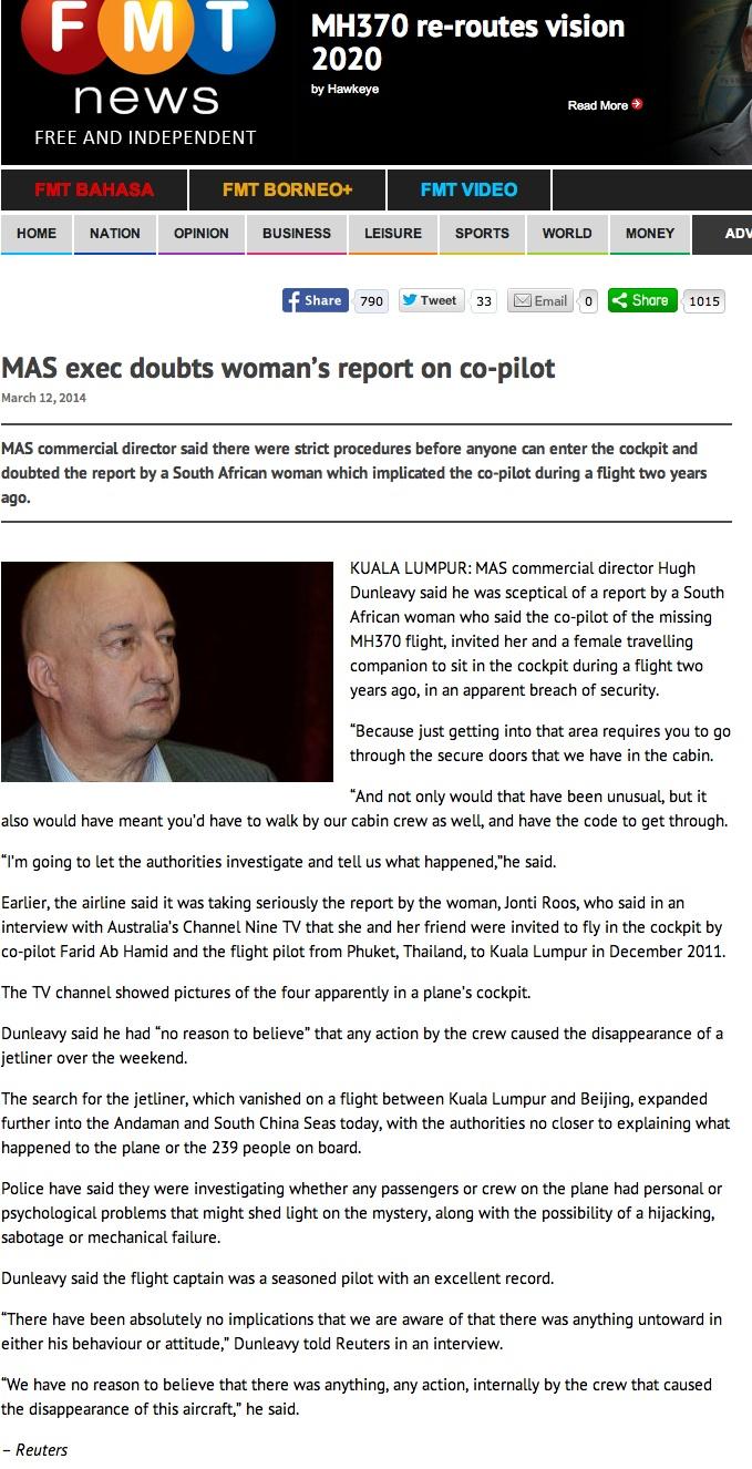 MAS Exec doubts