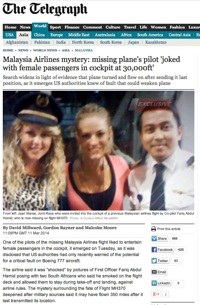 Oz girls and MH370