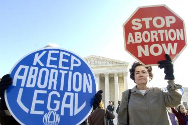 """Why doesn't this sign say """"KEEP ABORTION MORAL""""?"""