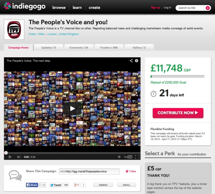 People's voice Indiegogo campaign 3