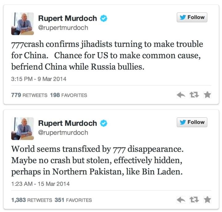 Rupert Murdoch tweets