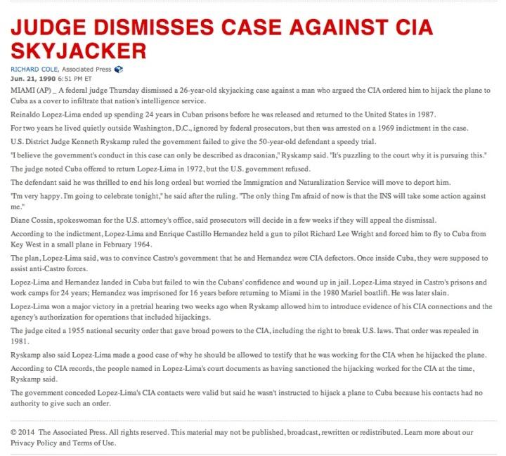 Skyjacker CIA