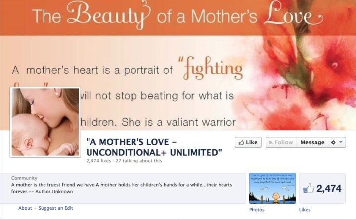 A mother's love FB page