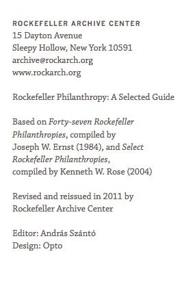 Rockefeller archive