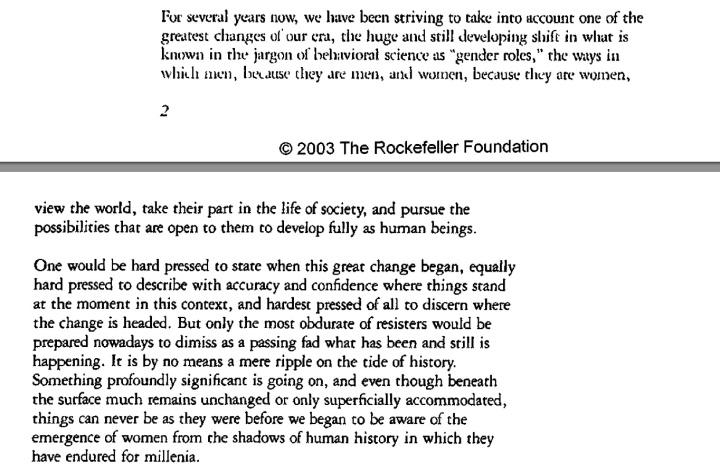 Rockefeller foundation annual report