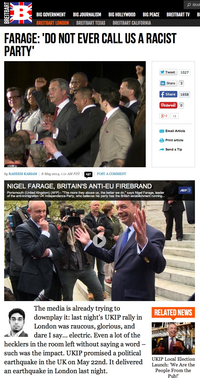 Farage racist? No