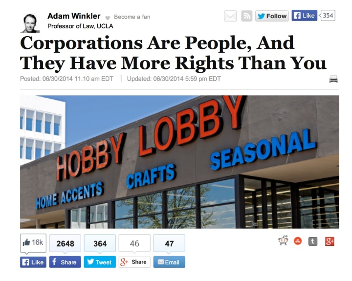 Hobby Lobby Corporate person