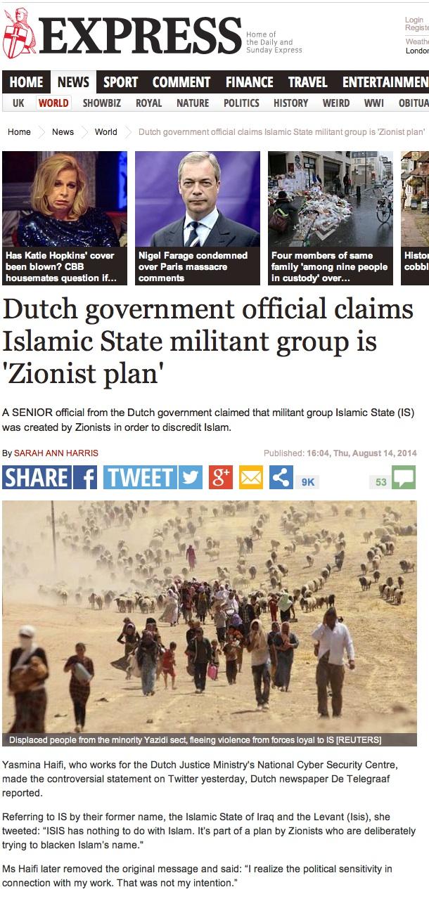 ISIS zionist plan