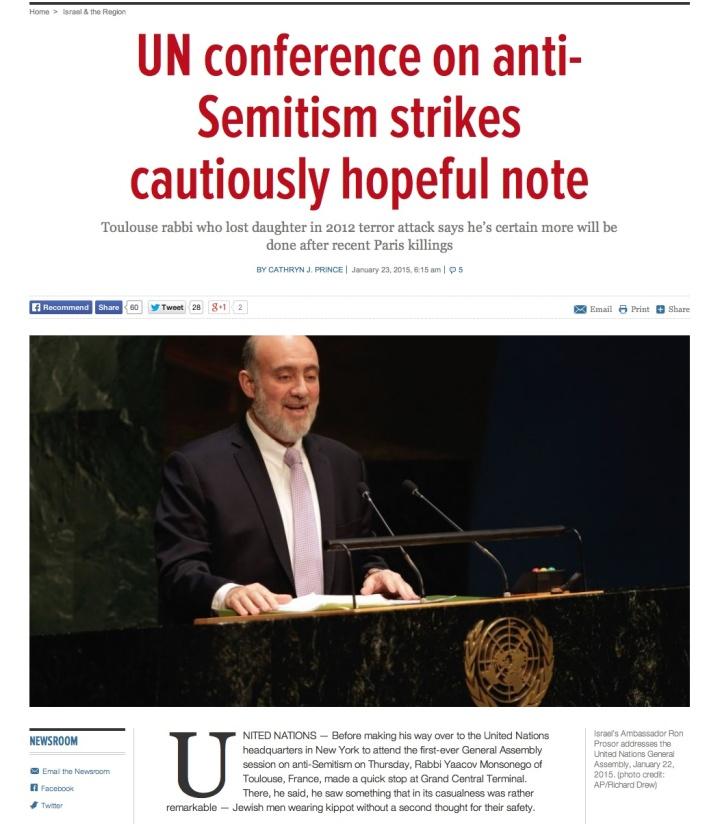 UN Anti semitism