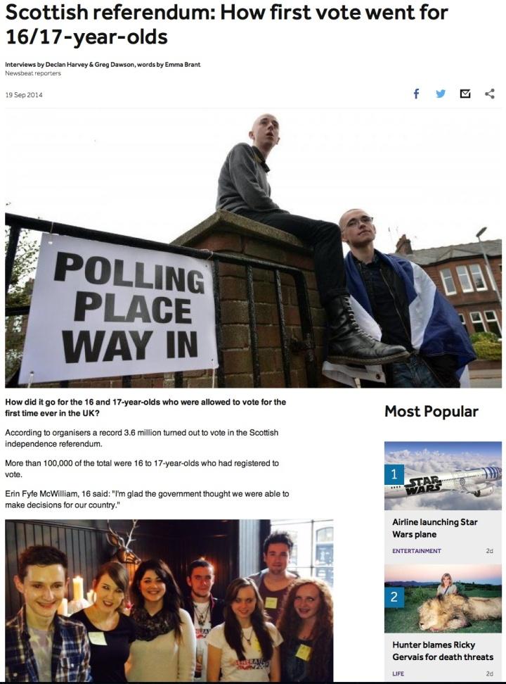 16 yr old vote