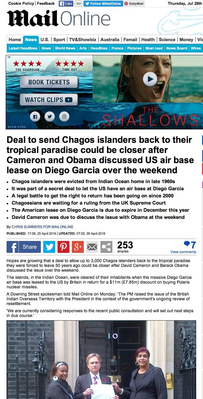 Chagos islanders
