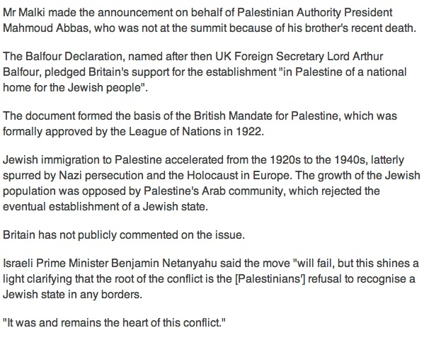 Palestine to sue Britain 2