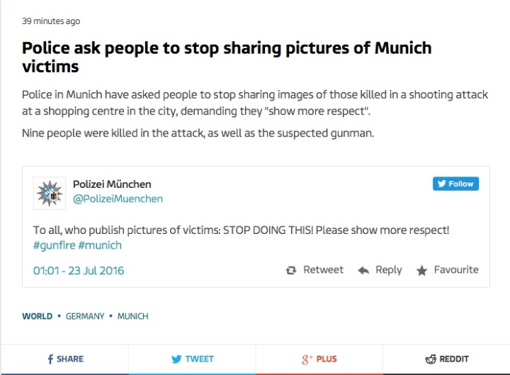 Munich Police respect